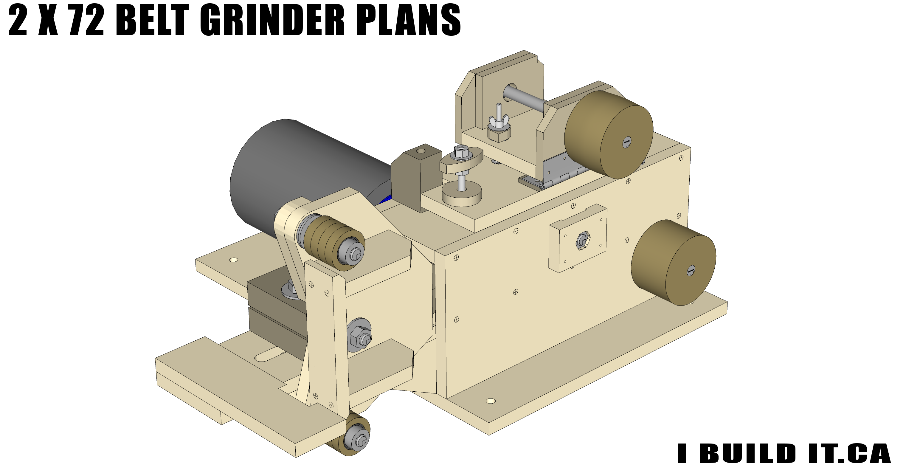 2 x 72 Belt Grinder Plans - Plans - IBUILDIT CA