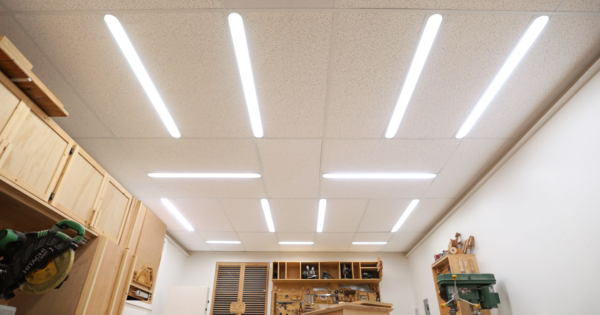 Workshop Lighting Upgrade - IBUILDIT.CA