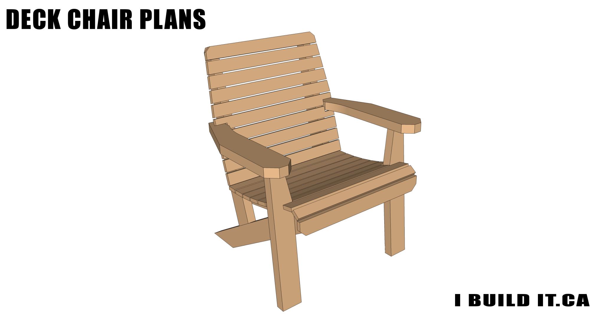 Deck Chair Plans - Plans - IBUILDIT.CA