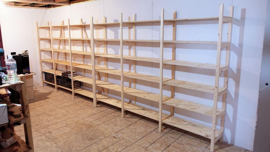How to make storage shelves ibuildit ca for Easy way to make shelves