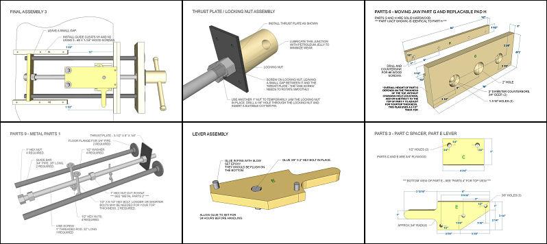 Quick Release Woodworking Vise Plans Plans Ibuildit Ca