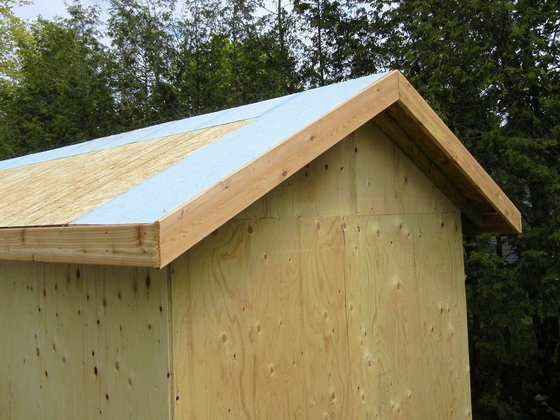 Building a garden shed ibuildit ca for Roof sheathing thickness