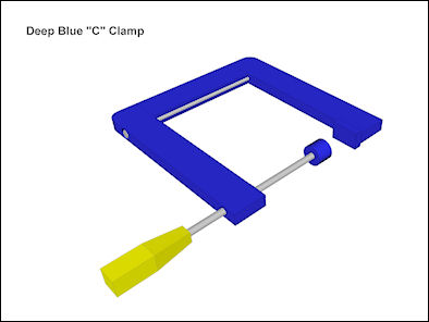 wooden c-clamp free plan diagram