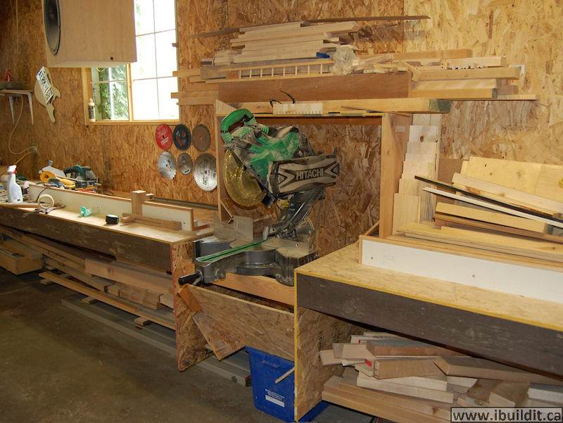 How to make a miter saw cabinet with hood ibuildit making a miter saw cabinet greentooth Images
