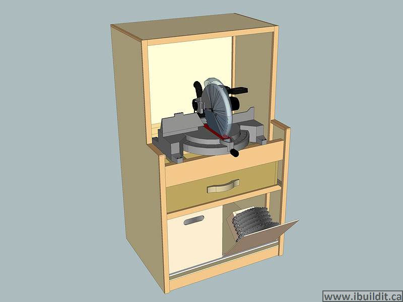 How To Make A Miter Saw Cabinet With Hood - IBUILDIT CA