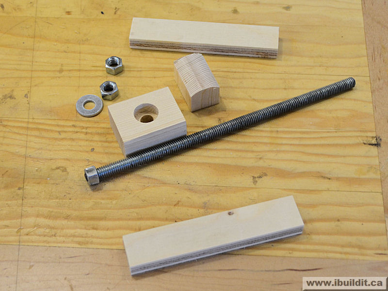 parts for make a k-body clamp from wood free plan