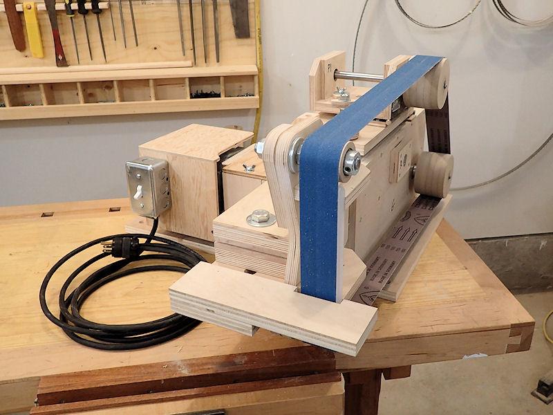 how to make a 2 x 72 belt grinder ibuildit ca. Black Bedroom Furniture Sets. Home Design Ideas