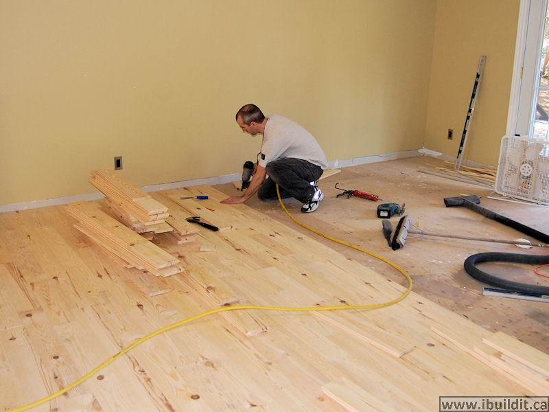 Laying a rustic pine floor ibuildit laying a pine floor solutioingenieria Images