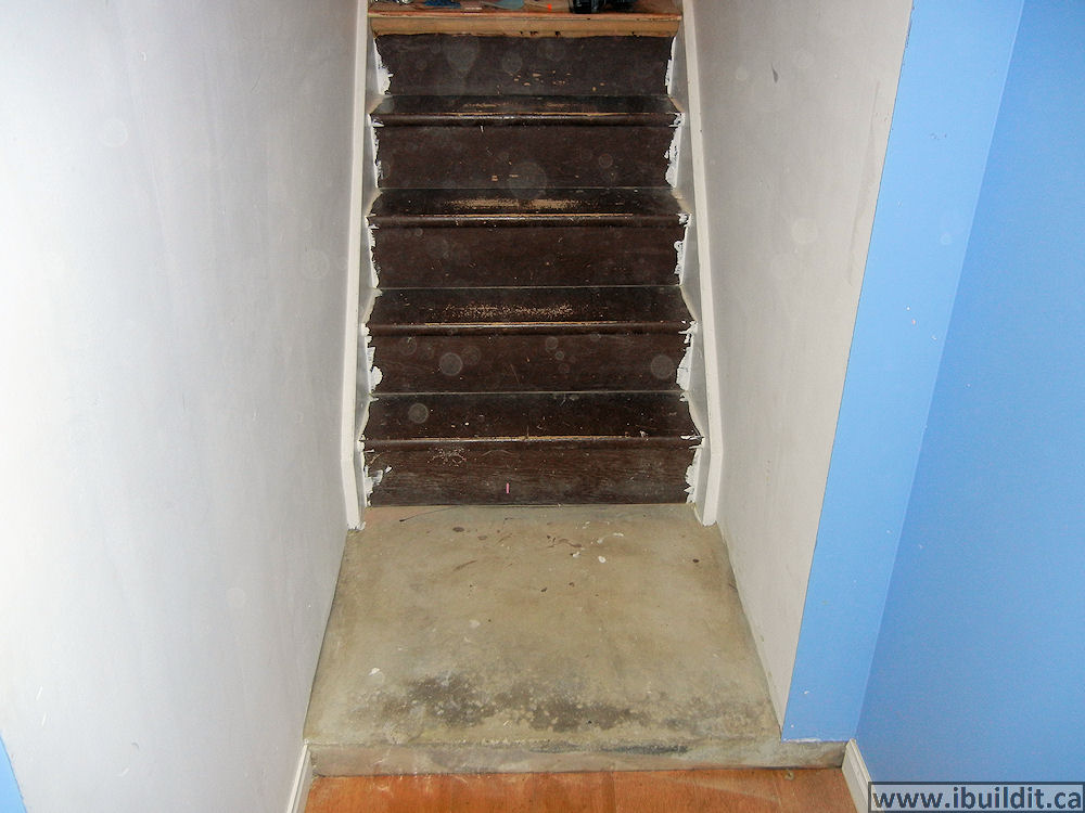 the old stairs & How To Cover Basement Stairs - IBUILDIT.CA
