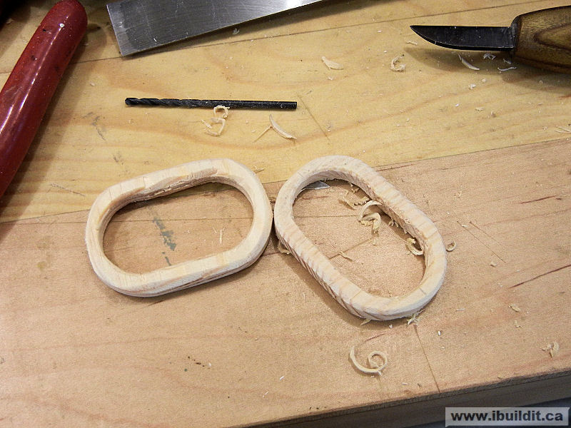 cut ovals for handle loops