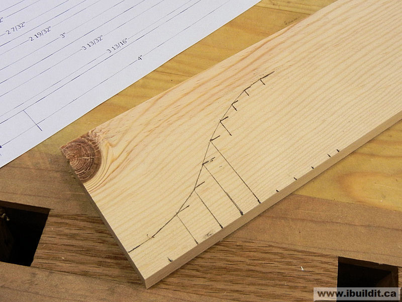 marked wood for treasure box contour