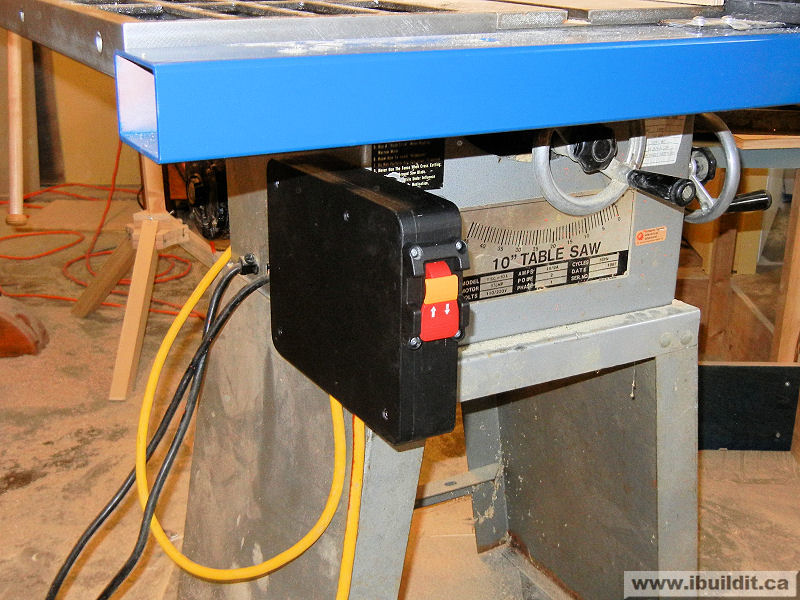 How to rebuild a table saw ibuildit new switch on tablesaw greentooth Gallery
