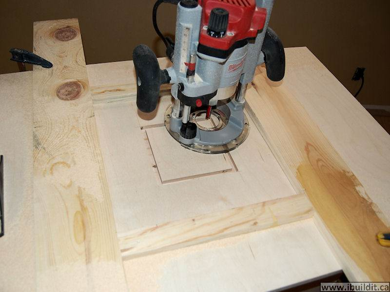 How to make a router table ibuildit cut a square hole with a router keyboard keysfo