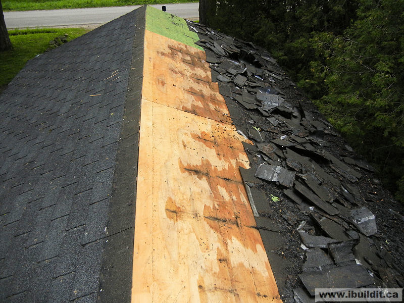 stripping shingles