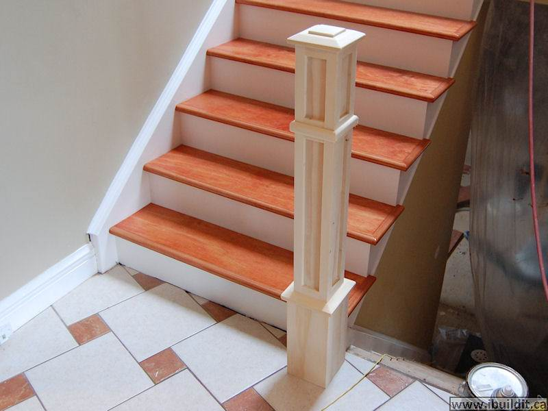 How To Redo Old Stairs And Building A New Railing - IBUILDIT CA