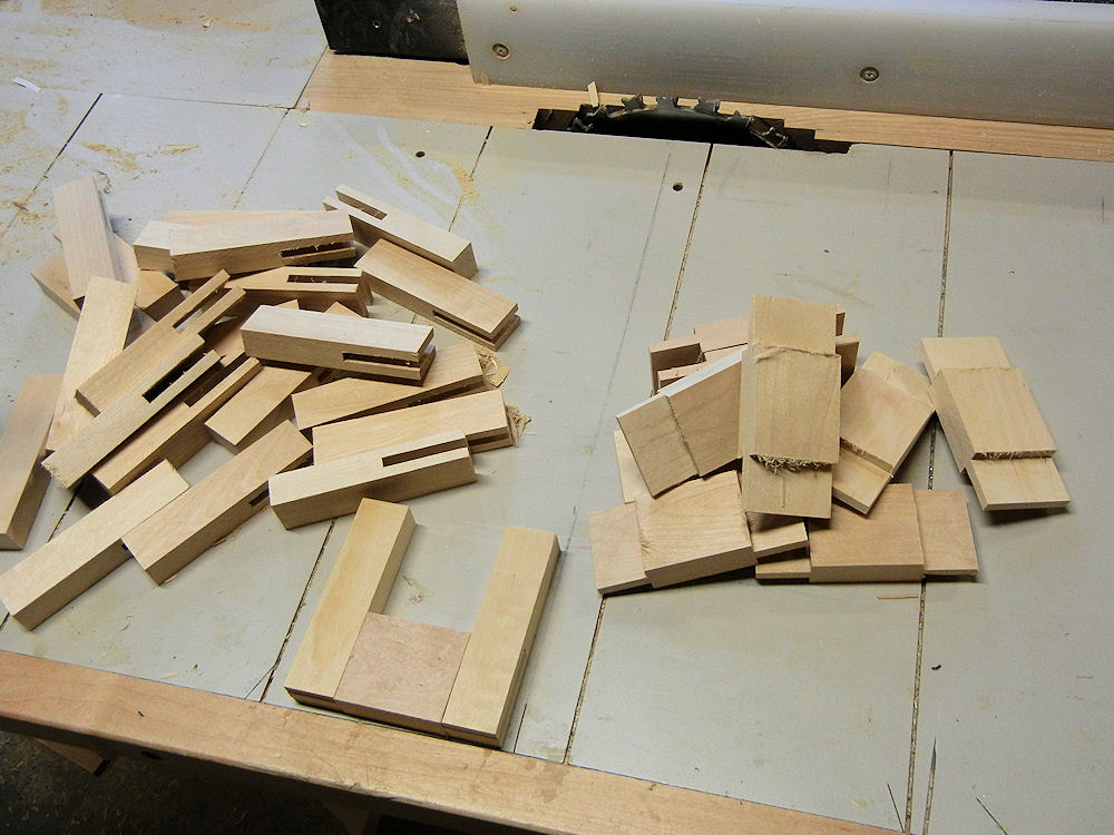 Mortises and tenons cut.