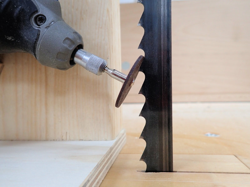 How To Make A Band Saw Blade Sharpening Jig Ibuildit Ca