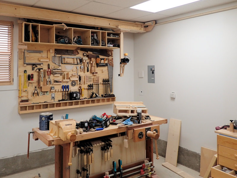 the rear position near the workbench