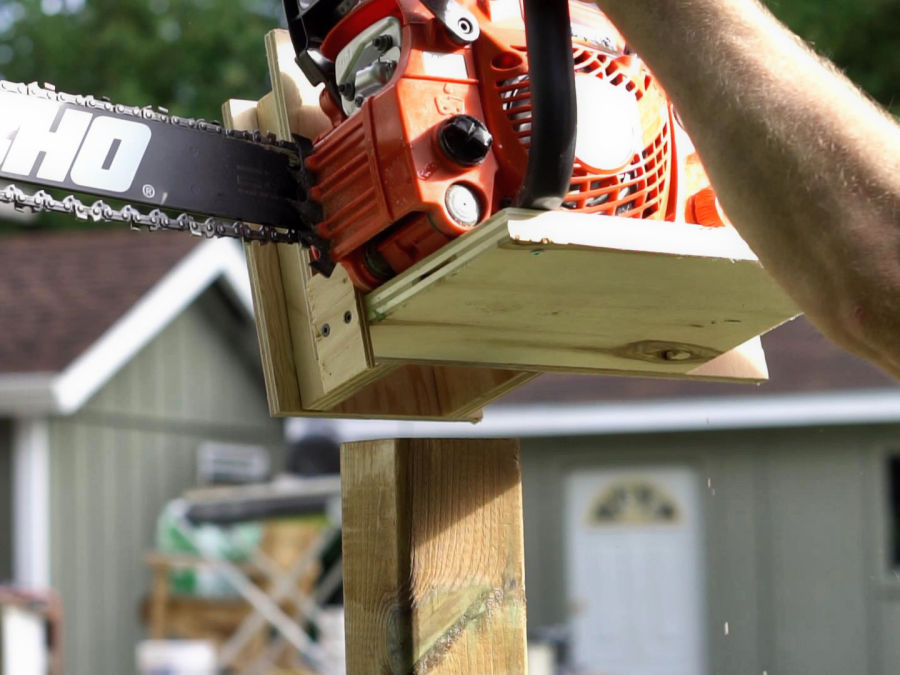 How To Make A Vertical Chainsaw Mill - IBUILDIT CA