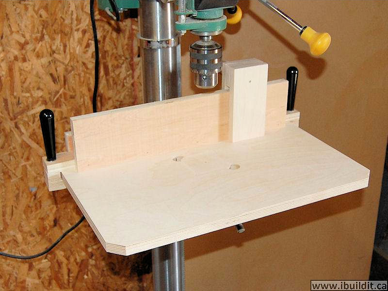 How To Make A Simple Drill Press Table Ibuildit Ca