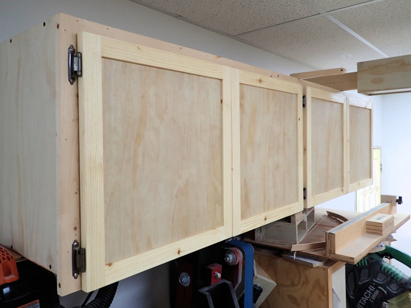 the finished doors mounted on the cabinet & How To Make Frame And Panel Doors - IBUILDIT.CA