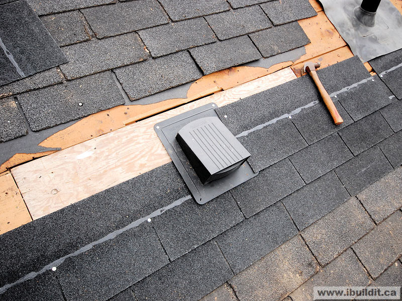 Rubber Roofing Installation Over Shingles : Installing roof vents my old house ibuildit