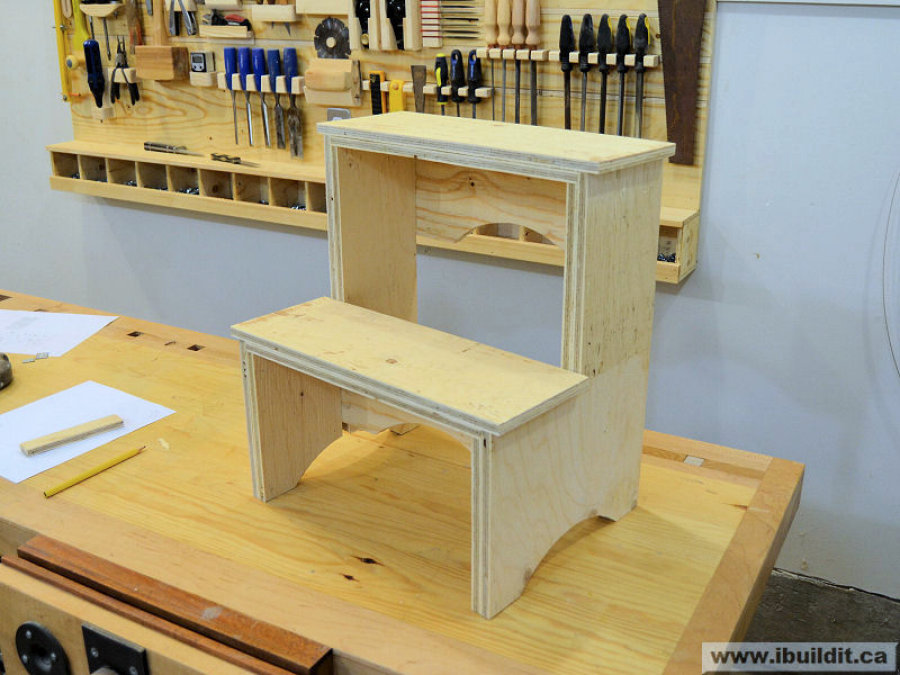 Stupendous How To Make A Step Stool From Plywood Ibuildit Ca Ncnpc Chair Design For Home Ncnpcorg
