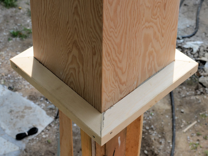how to build tapered stone columns