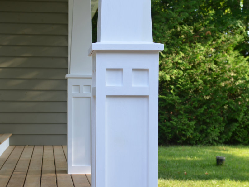 How to make craftsman style tapered columns ibuildit ca for How to build craftsman porch columns