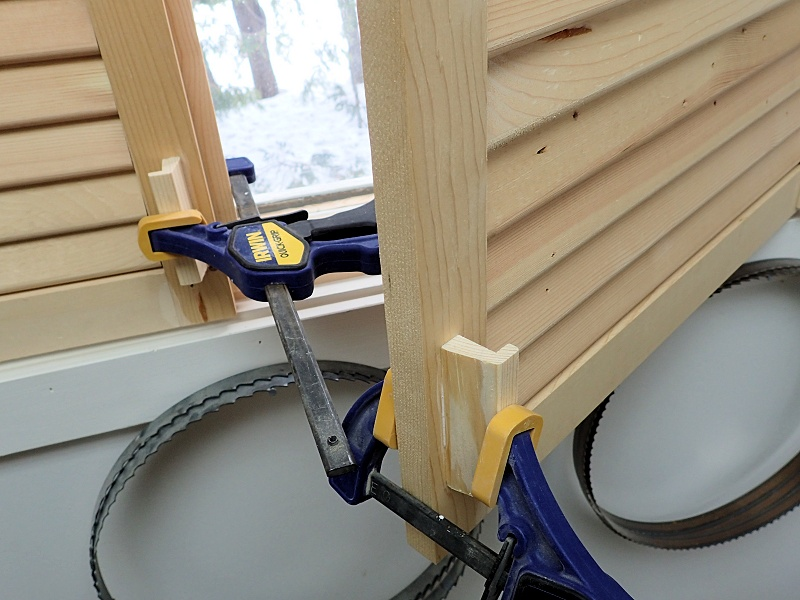glue and clamp on handles