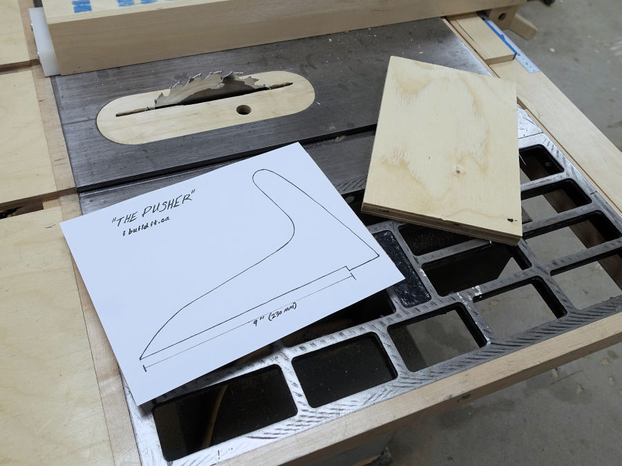 picture relating to Table Saw Push Stick Printable Template known as How Toward Produce A Force Adhere - Store Secrets and techniques Recommendations - IBUILDIT.CA