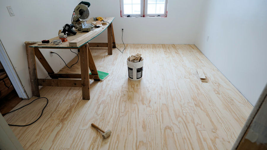Plywood Sheet Flooring ~ How to install and finish plywood flooring ibuildit