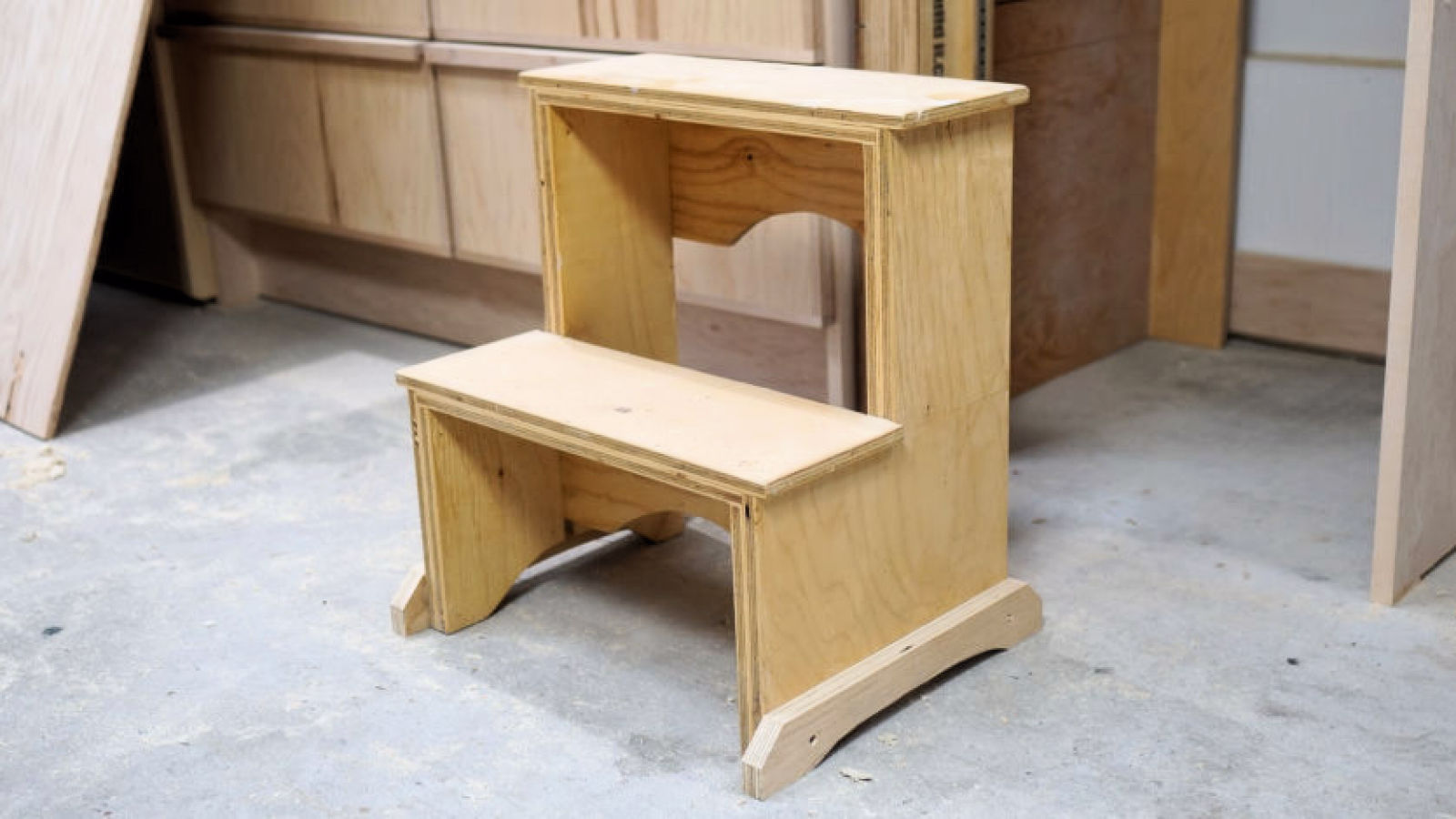 How To Make A Step Stool From Plywood Ibuildit Ca