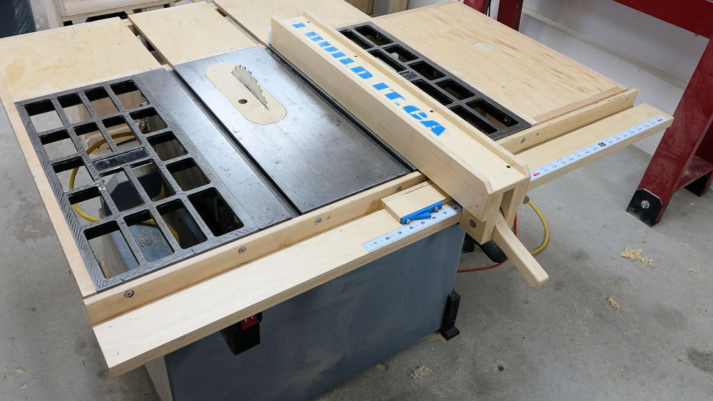 Wooden table saw fence plans plans ibuildit this table saw fence system will be a huge improvement and will make using your saw a pleasure instead of a chore keyboard keysfo Images