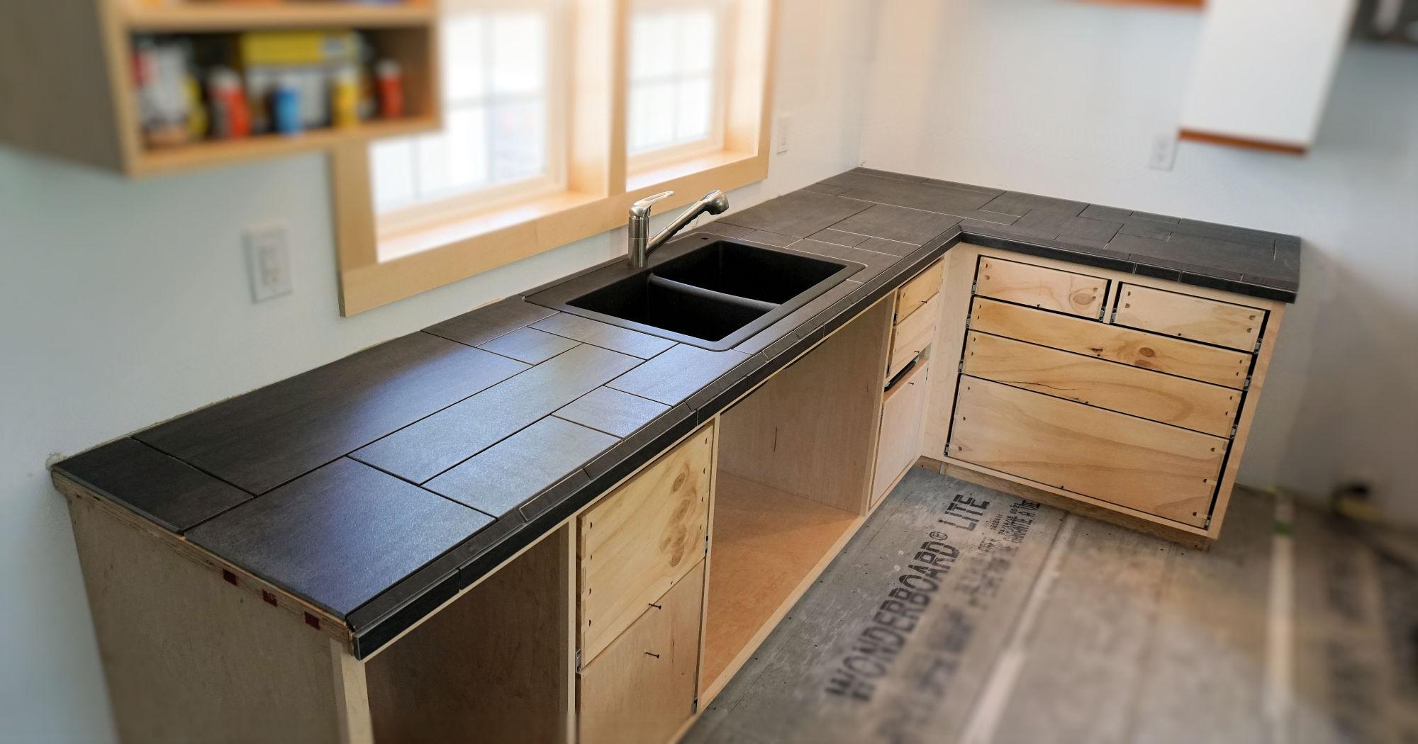 Installing A Tile Countertop - IBUILDIT.CA